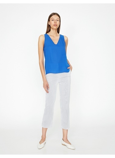 Koton Sırt Detaylı Bluz Saks